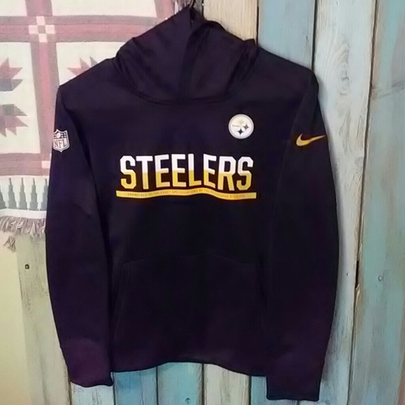 hot new products 2018 shoes high fashion NFL Steelers Nike Hoodie Youth Medium.